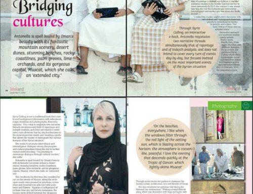Bridging Cultures – Interviewed on Weekend Magazine OmanObserver